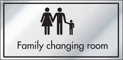 Family Changing Room Cater Signs Catersigns Limited - Family changing room