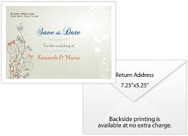 save the date envelopes personalized wedding save the date envelope 7 25x5 25 plain white