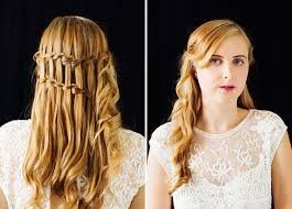 braids in front hair in back braids for your bridesmaids