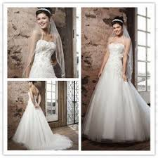 as1654 a line applique lace beaded tulle dropped waist