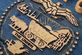 oregon flag distressed wooden flag vintage art distressed