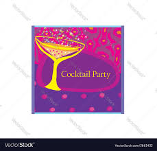 cocktail party invitation card royalty free vector image