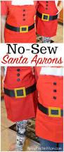 diy no sew santa apron easy and affordable to make