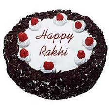 send 1 kg black forest rakhi cake to india gifts to india send