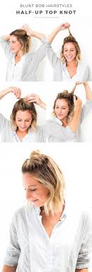 how to pull back shoulder length hair 18 half up hairstyles for short and medium length hair to try now