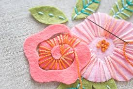felt flowers how to create embroidered felt flowers