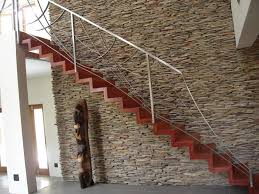Decorations Unique Interior Wall Decor Using Red Stairs With