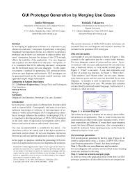 gui prototype generation by merging use cases pdf download available