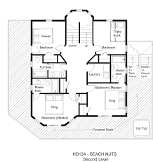 large beach house floor plans