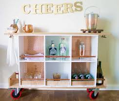 diy upcycled home decor diy bar cart upcycle a bar cart with fiskars