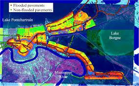 New Orleans Flood Map by Pavement Structures Damage Caused By Hurricane Katrina Flooding