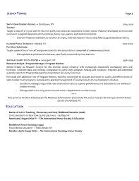 Sample Objectives In A Resume by Substitute Teacher Resume Example
