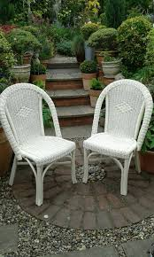White Wicker Chairs For Sale For Sale Pair Of Matching Old Eng White Wicker Chairs Ideal For