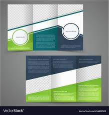 sided tri fold brochure template tri fold business brochure template two sided vector image
