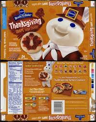 pillsbury ready to bake thanksgiving shape sugar cookies box 2010