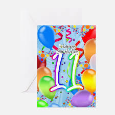 11 year birthday greeting cards thank you cards and