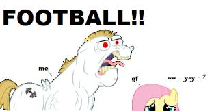 Football Season Meme - my gf and me during college football season my little pony
