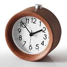 Small Desk Clock Zorvo Classic Wooden Alarm Clock Silent Small Desk