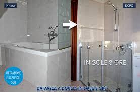 trasformare una doccia in vasca da bagno da vasca a doccia in sole 8 ore a prato