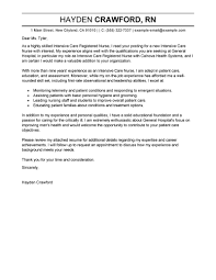best intensive care cover letter exles livecareer
