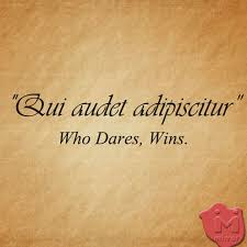 tattoo quotes about life in latin qui audet adipiscitur latin who dares wins a couple tattoos