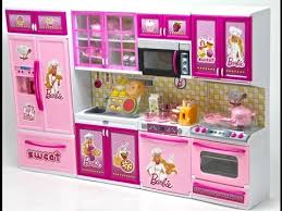 barbie mutfak seti barbie kitchen set youtube