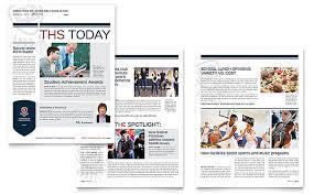 learning center u0026 elementary newsletter template design
