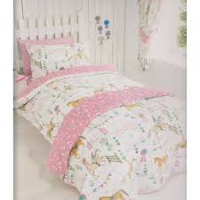pink bedding for girls kids club girls horse show duvet cover bedding set single double