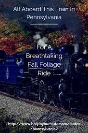 take this fall foliage train ride through pennsylvania for a one