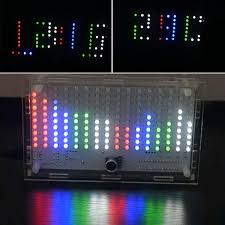 diy fft1625 digital clock spectrum electronic kit with