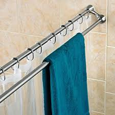 Duo Shower Curtain Rod Polder Duo Shower Curtain Rod Brushed Stainless Steel