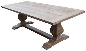 oak trestle dining table oak dining room tables