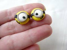 minion earrings minion studs despicable me earrings one eye two choose
