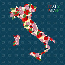 World Map Ai File Free Download by Italy Map With Ingredients For Pizza Cheese And Tomatoes Salami