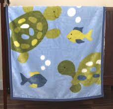product turtle reef crib bumper amazon com blue elly easy clean