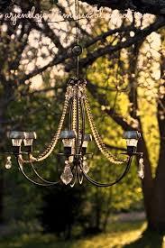 Outdoor Chandelier Diy How To Light Up Your Garden With A Diy Solar Chandelier Diva Of
