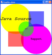 draw canvas with color and text paint 2d graphics gui java