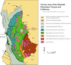 map of oregon mountains geologic map of klamath mountains including redwoods national
