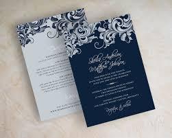 navy wedding invitations jora navy silver wedding invitations appleberry ink simple