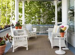 summer decors infused with white wicker furniture