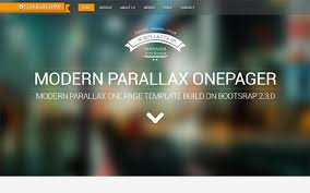 bootstrap themes free parallax scroll strap modern parallax one pager business corporate