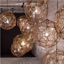 low price light fixtures american industrial round ball droplight silver gold copper european