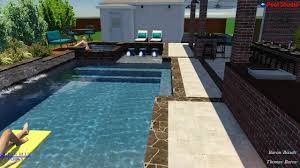 ocean blue pools swimming pool rendering burns backyard youtube