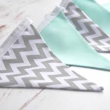 Mint And Grey Bedroom by Mint And Grey Chevron Bunting Nursery Bunting Nursery Decor The
