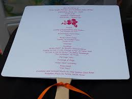make your own wedding fan programs how to make wedding program fans cheap and easy to put together
