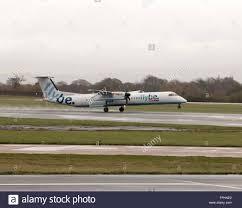 flybe bombardier dash 8 q400 regional turboprop passenger plane