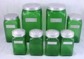 green canister sets kitchen glass kitchen canister sets foter