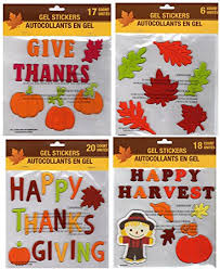 fall harvest and thanksgiving gel stickers window