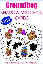 groundhog day activities for prek with free shadow matching cards