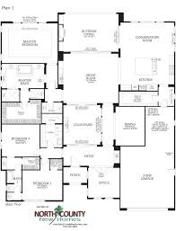 floor plans for 1 story homes southern preserve la costa floor plan 1 new homes